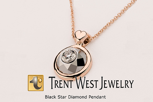 The Black Star Diamond Pendant - Trent West Jewelry